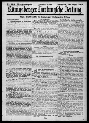Königsberger Hartungsche Zeitung on Apr 30, 1913
