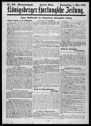 Königsberger Hartungsche Zeitung vom 01.05.1913
