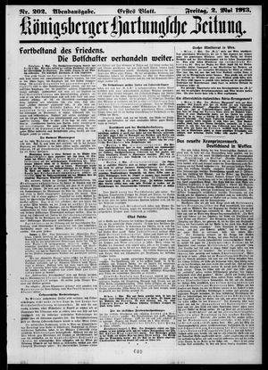 Königsberger Hartungsche Zeitung vom 02.05.1913