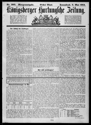 Königsberger Hartungsche Zeitung vom 03.05.1913