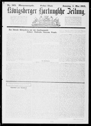 Königsberger Hartungsche Zeitung vom 04.05.1913