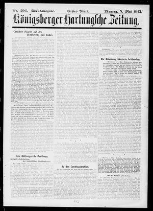 Königsberger Hartungsche Zeitung vom 05.05.1913