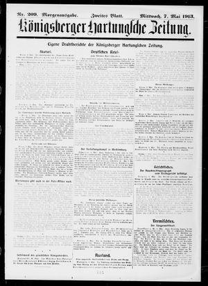 Königsberger Hartungsche Zeitung on May 7, 1913