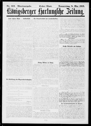 Königsberger Hartungsche Zeitung vom 08.05.1913