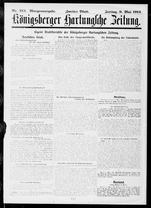 Königsberger Hartungsche Zeitung vom 09.05.1913