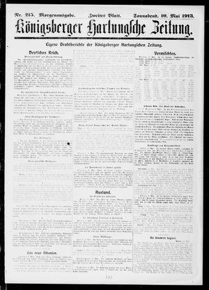 Königsberger Hartungsche Zeitung vom 10.05.1913