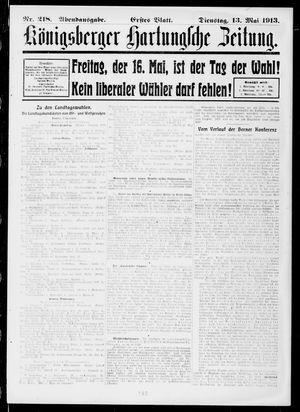 Königsberger Hartungsche Zeitung vom 13.05.1913