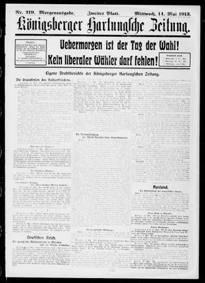 Königsberger Hartungsche Zeitung vom 14.05.1913