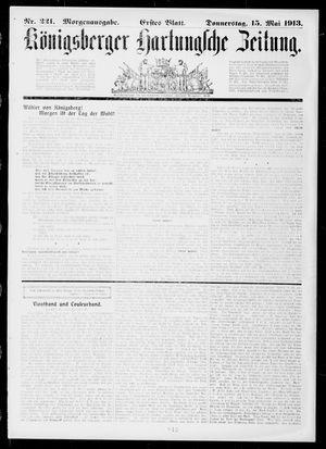 Königsberger Hartungsche Zeitung vom 15.05.1913