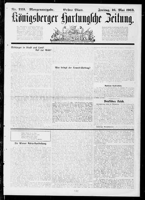Königsberger Hartungsche Zeitung vom 16.05.1913