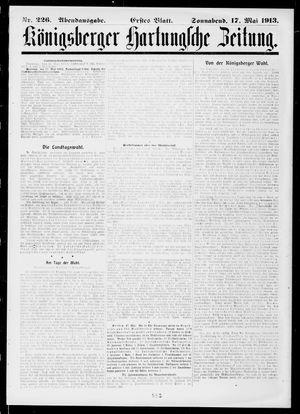 Königsberger Hartungsche Zeitung vom 17.05.1913