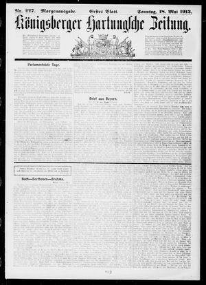 Königsberger Hartungsche Zeitung vom 18.05.1913