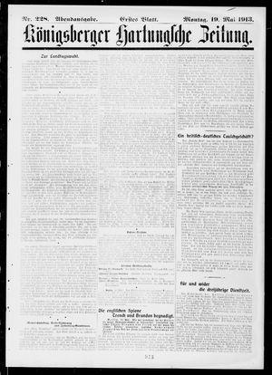 Königsberger Hartungsche Zeitung vom 19.05.1913