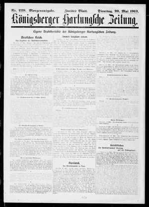 Königsberger Hartungsche Zeitung vom 20.05.1913