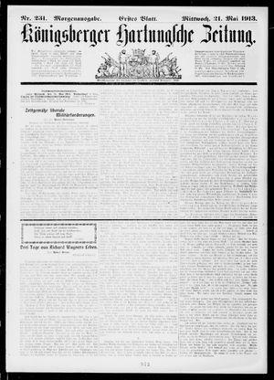 Königsberger Hartungsche Zeitung vom 21.05.1913