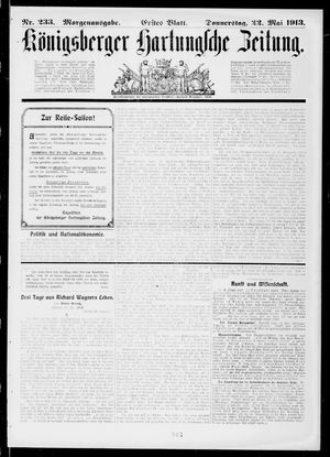 Königsberger Hartungsche Zeitung vom 22.05.1913