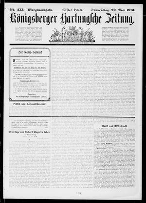 Königsberger Hartungsche Zeitung on May 22, 1913