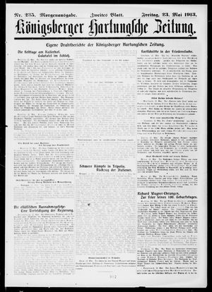 Königsberger Hartungsche Zeitung vom 23.05.1913