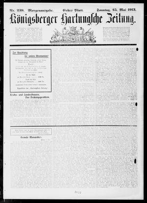 Königsberger Hartungsche Zeitung vom 25.05.1913