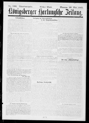 Königsberger Hartungsche Zeitung on May 26, 1913
