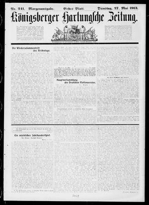 Königsberger Hartungsche Zeitung vom 27.05.1913