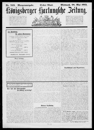 Königsberger Hartungsche Zeitung vom 28.05.1913