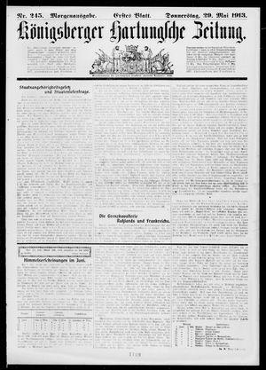 Königsberger Hartungsche Zeitung vom 29.05.1913