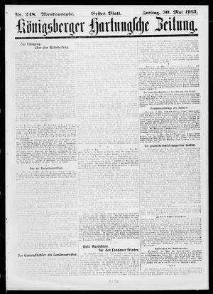Königsberger Hartungsche Zeitung vom 30.05.1913