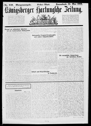 Königsberger Hartungsche Zeitung vom 31.05.1913