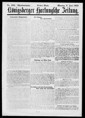 Königsberger Hartungsche Zeitung vom 02.06.1913
