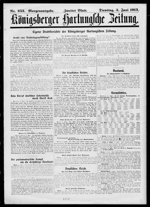 Königsberger Hartungsche Zeitung vom 03.06.1913