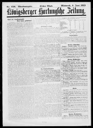 Königsberger Hartungsche Zeitung vom 04.06.1913