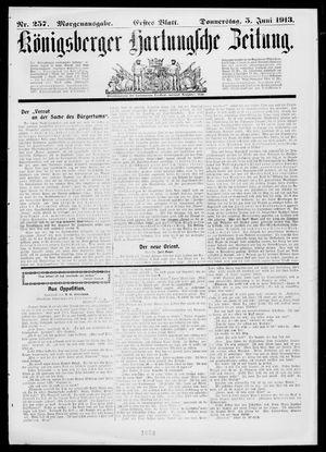 Königsberger Hartungsche Zeitung on Jun 5, 1913