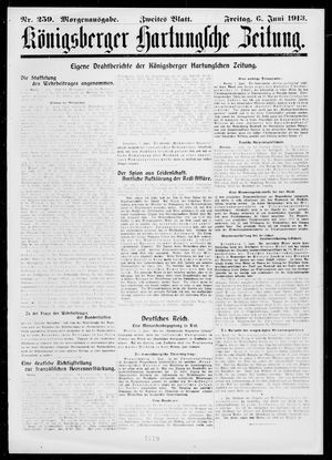 Königsberger Hartungsche Zeitung on Jun 6, 1913