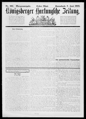 Königsberger Hartungsche Zeitung vom 07.06.1913