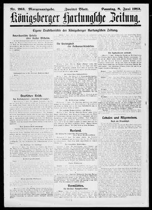 Königsberger Hartungsche Zeitung vom 08.06.1913
