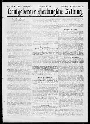 Königsberger Hartungsche Zeitung vom 09.06.1913