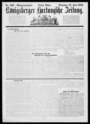 Königsberger Hartungsche Zeitung vom 10.06.1913
