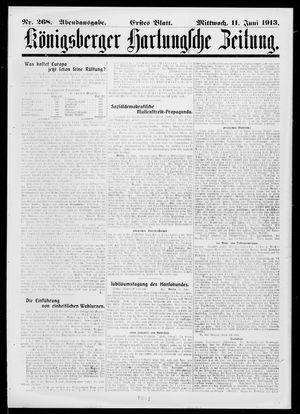 Königsberger Hartungsche Zeitung vom 11.06.1913