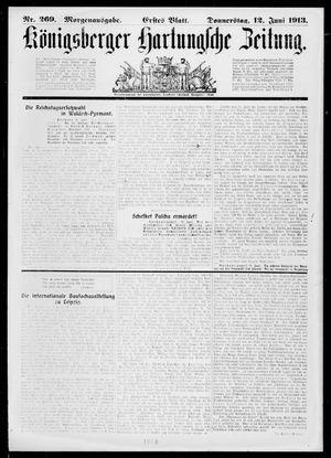 Königsberger Hartungsche Zeitung vom 12.06.1913