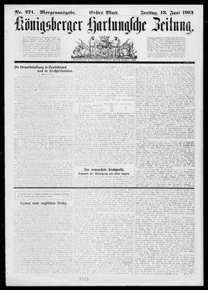Königsberger Hartungsche Zeitung vom 13.06.1913