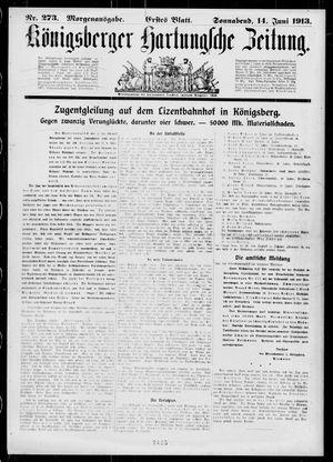 Königsberger Hartungsche Zeitung vom 14.06.1913
