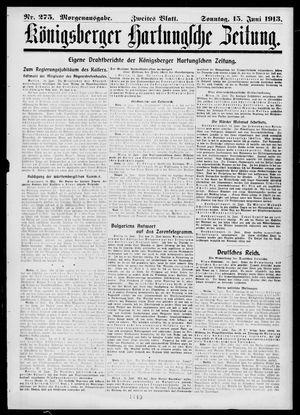 Königsberger Hartungsche Zeitung vom 15.06.1913