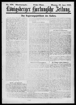 Königsberger Hartungsche Zeitung vom 16.06.1913