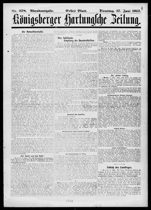 Königsberger Hartungsche Zeitung vom 17.06.1913