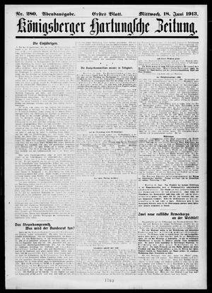 Königsberger Hartungsche Zeitung vom 18.06.1913