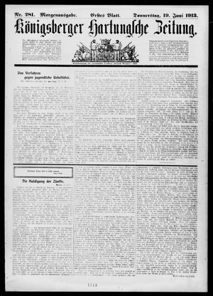 Königsberger Hartungsche Zeitung vom 19.06.1913