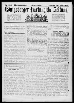 Königsberger Hartungsche Zeitung vom 20.06.1913