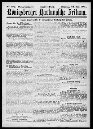 Königsberger Hartungsche Zeitung vom 22.06.1913