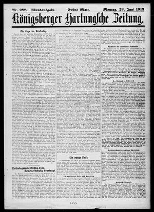 Königsberger Hartungsche Zeitung vom 23.06.1913